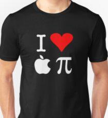 Camiseta ajustada I Love Apple Pi