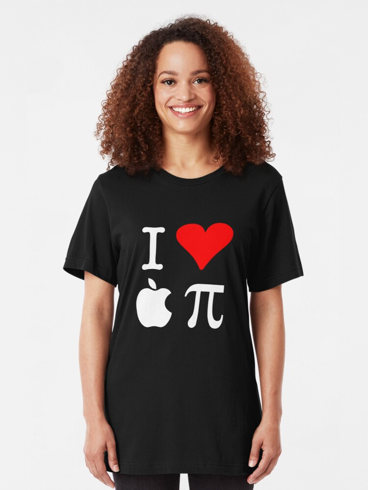 Alternate view of I Love Apple Pi Slim Fit T-Shirt
