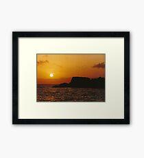 Sun Setting Over Dent Island © Vicki Ferrari Framed Print