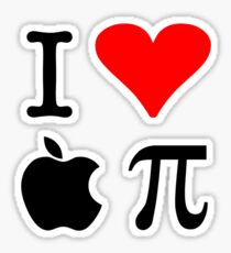I Love Apple Pie - Alternative for light t-shirts Sticker