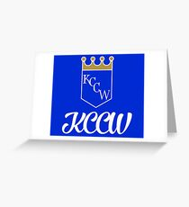 KCCW Backyard Wrestling Logo Greeting Card
