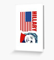 US Senator Hillary Rodham Clinton Greeting Card