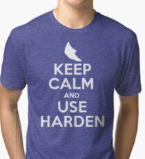 Pokemon - Keep Calm and Use Harden - Metapod Design Tri-blend T-Shirt