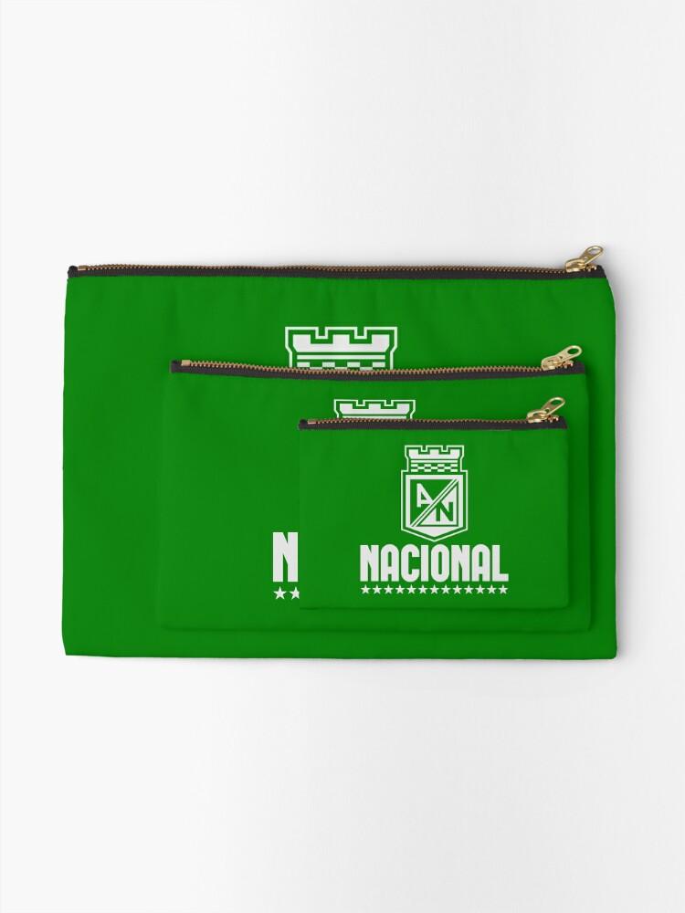 Alternative Ansicht von Atlético Nacional Kolumbien Medellin Futbol Fußball - Camiseta Postobon Täschchen