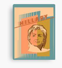 US Senator Hillary Rodham Clinton Canvas Print
