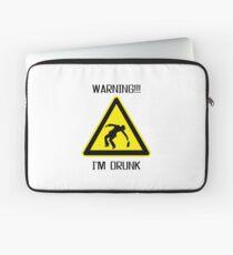 Drunk Warning Beer Funny T shirt Laptop Sleeve