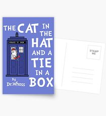 The Cat in the Hat and a Tie in a Box Postcards