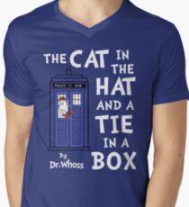 The Cat in the Hat and a Tie in a Box Men's V-Neck T-Shirt