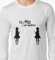 Re: Zero kara Hajimeru Isekai Seikatsu (Black Edition) Long Sleeve T-Shirt