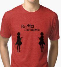 Re: Zero kara Hajimeru Isekai Seikatsu (Black Edition) Tri-blend T-Shirt