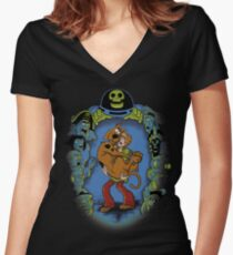 MY CHILDHOOD MONSTERS Women's Fitted V-Neck T-Shirt