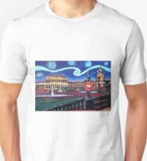 Starry nights in Dresden mit Zwinger - Van Gogh inspiriert T-Shirt