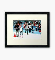 inline skate Framed Print