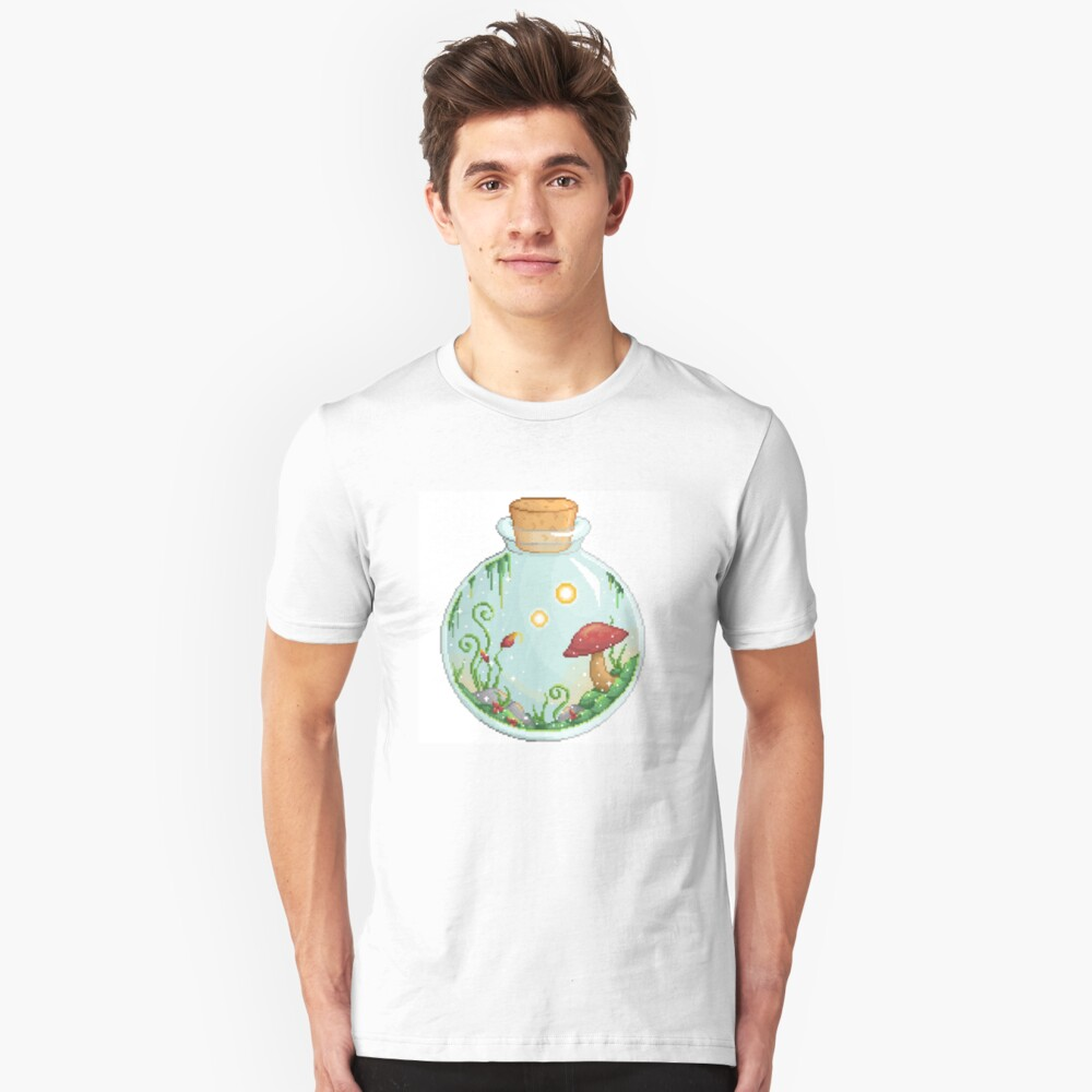 Mushrooms in a Jar Unisex T-Shirt Front