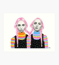 Plaited Twins Art Print
