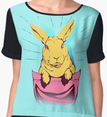 bunny rabbit in your pocket pet shirt Chiffon Top