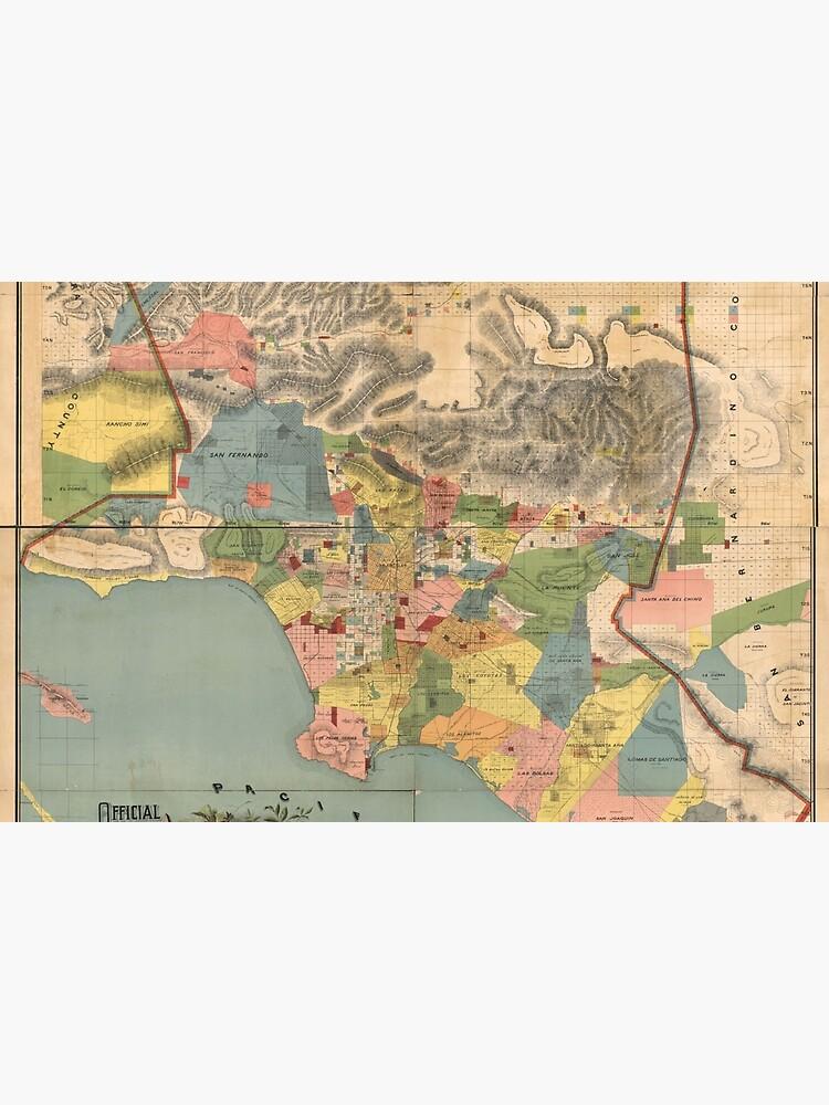 Vintage Karte von Los Angeles County CA (1888) von BravuraMedia