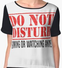 Do Not Disturb Chiffon Top
