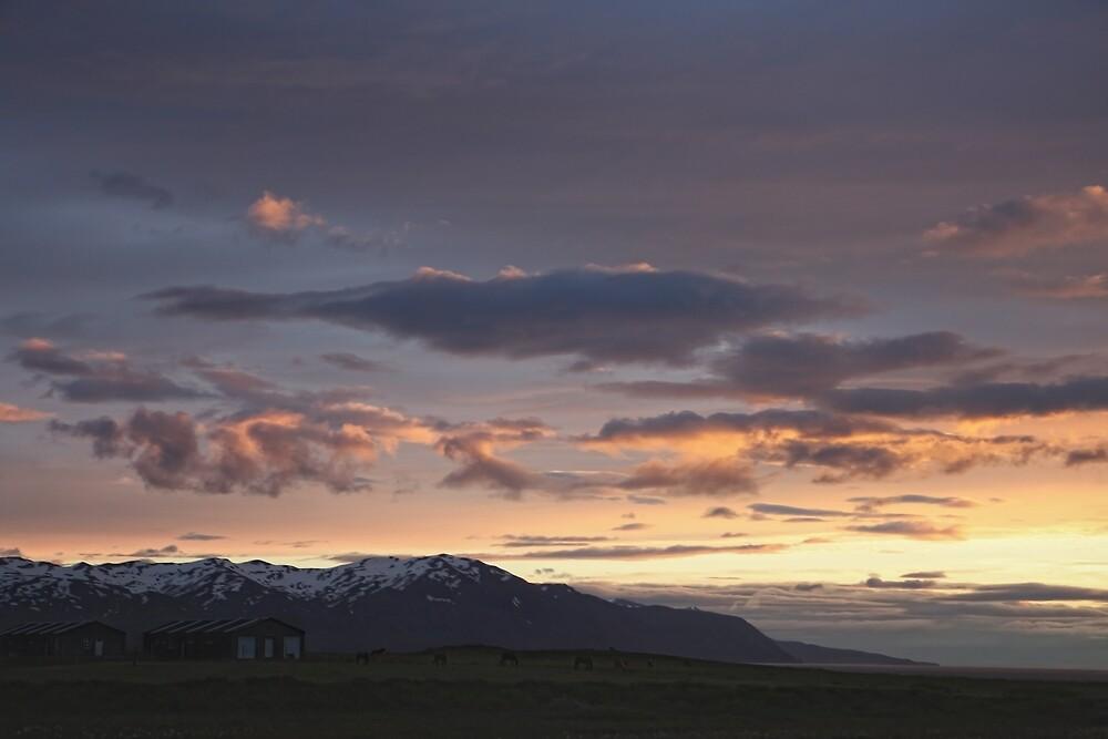 sunset over Kaldakinn by Rebecca Tun