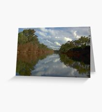 Tranquil river scene Greeting Card
