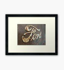 Rusty Ford Framed Print