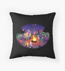 Nintendo Pikmin and Olimar Campfire Throw Pillow