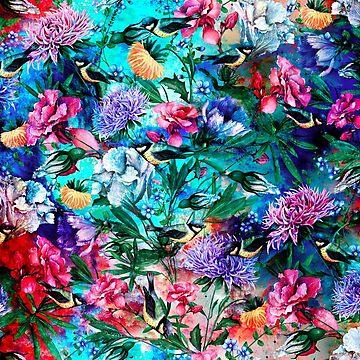 Blumen und Vögel von rizapeker