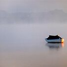 Dinghy in the mist by Frances Henke