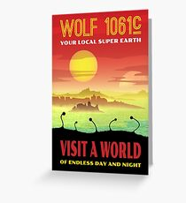 Wolf 1061c Exoplanet Space Travel Illustration Greeting Card