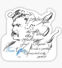 Mark Twain Picture Quote - The Right Word Sticker