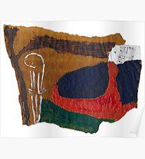 Soul landscape on baking parchment Poster