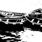 Fishing-boats in black and white by Arie Koene