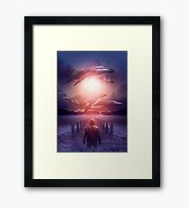 The Space Between Dreams and Reality Framed Print