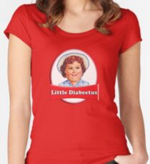 Little Diabeetus (little Debbie) 'lil debbie logo parody Women's Fitted Scoop T-Shirt