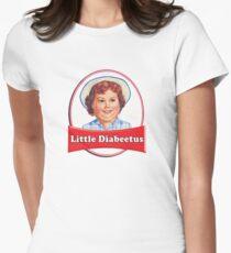 Little Diabeetus (little Debbie) 'lil debbie logo parody Womens Fitted T-Shirt