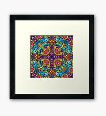 Psychedelic LSD Trip Ornament 0004 Framed Print