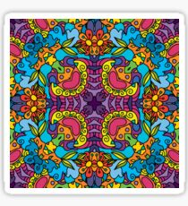 Psychedelic LSD Trip Ornament 0004 Sticker