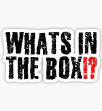 Whats In The Box Seven Movie Quote Famous Cool Sticker