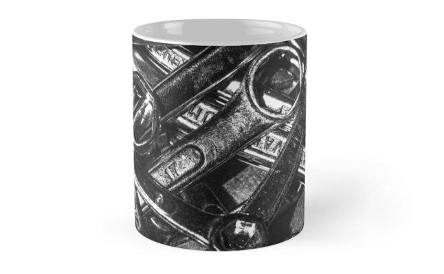 Tool Orgy - Monochrome (Mug) by Matti Ollikainen