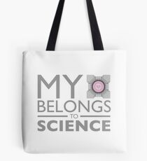 My Heart Belongs to Science ~ Companion Cube Tote Bag