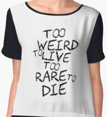 Hunter S. Thompson Quote Cool Weird Funny Strange Chiffon Top