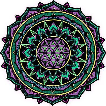 """Valeria"" Sacred Geometry Mandala Colour by zkorvin"