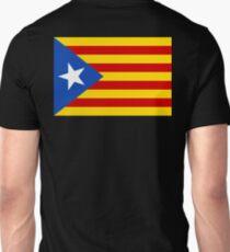 Estelada, Flag, Catalan, Spain, Spanish, Blue Estelada, Senyera Estelada, Starred flag, Lone Star flag, ON BLACK Unisex T-Shirt