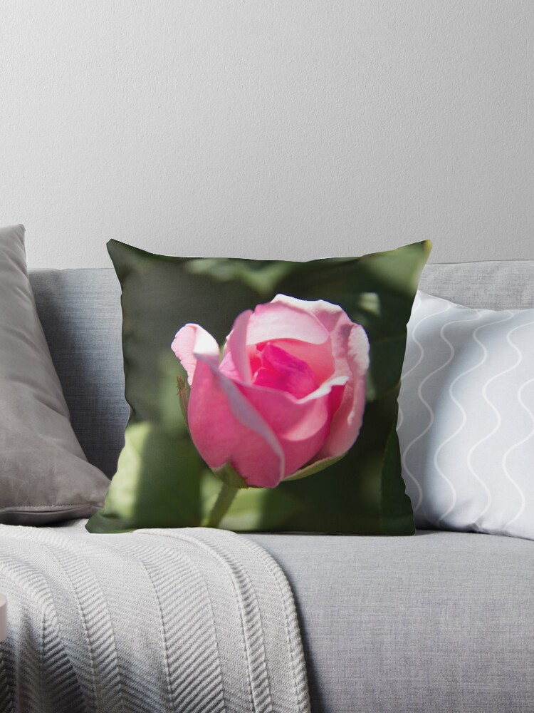 Pink Rose Bud by ValeriesGallery