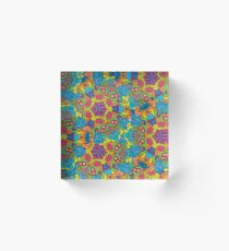 Psychedelic LSD Trip Ornament 0006 Acrylic Block