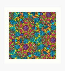 Psychedelic LSD Trip Ornament 0006 Art Print