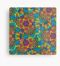 Psychedelic LSD Trip Ornament 0006 Metal Print