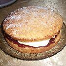 Victoria Sponge with Homemade Raspberry Jam and Fresh Cream by AnnDixon