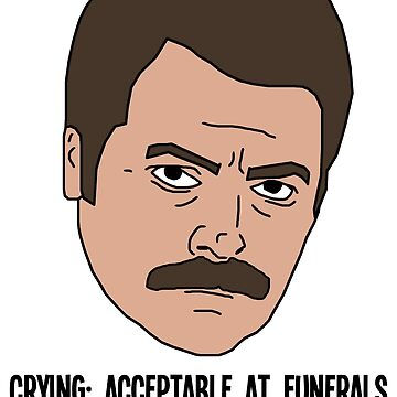 Ron Swanson - Crying by afaapril