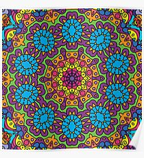 Psychedelic LSD Trip Ornament 0008 Poster